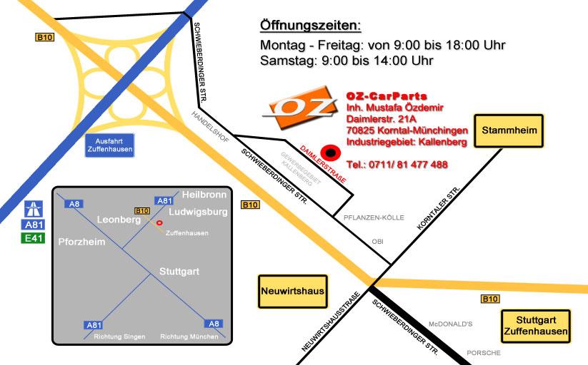 Standort von OZ-CarParts